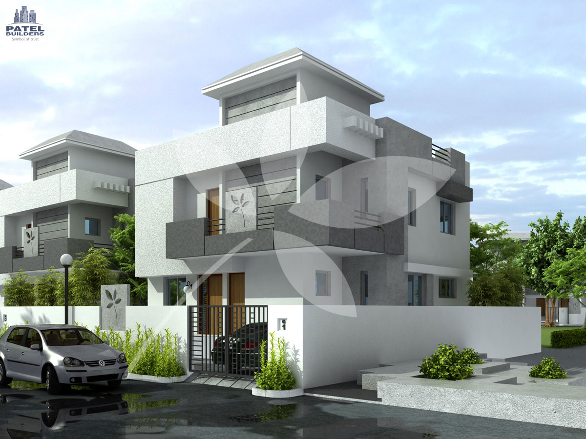 Modern bungalow elevation joy studio design gallery best for Modern bungalow elevation